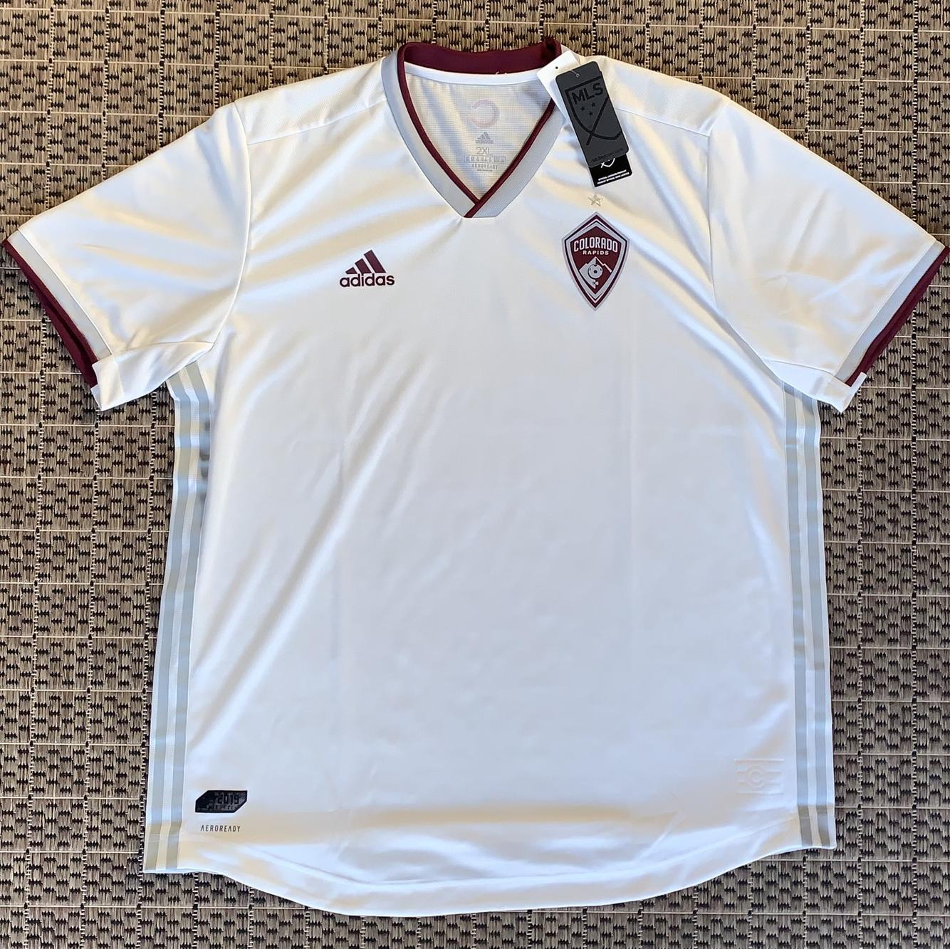 White New XXL Adidas Jersey