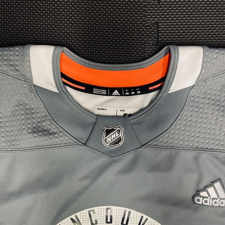 New Vancouver Canucks Pro Stock Practice Jersey • 58 Goalie Adidas 3-Stripe | SidelineSwap