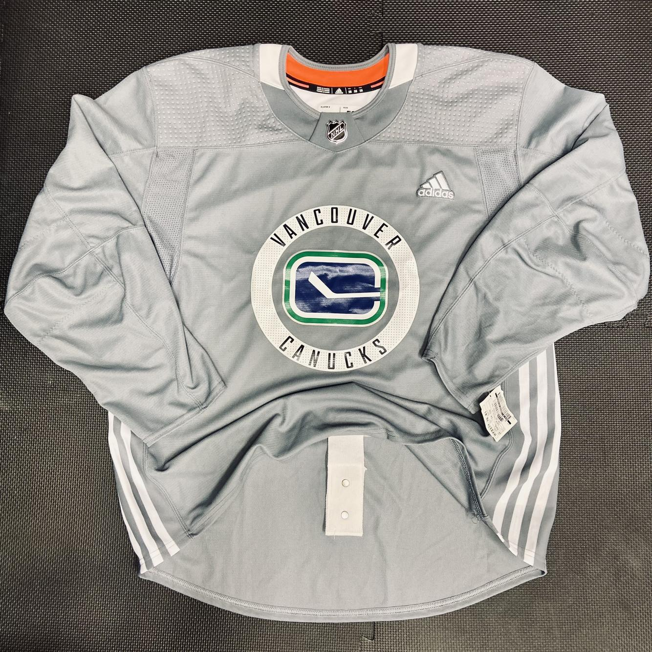 New Vancouver Canucks Pro Stock Practice Jersey • 58 Goalie Adidas ...