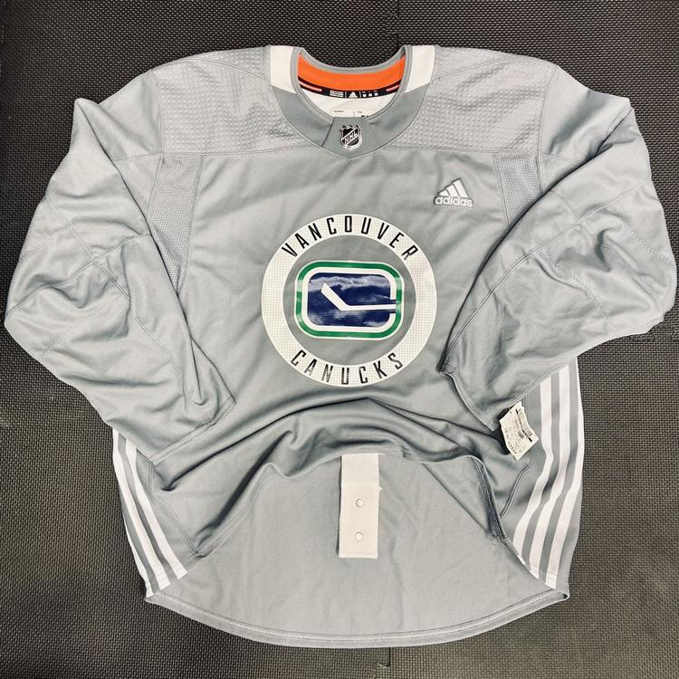 New Vancouver Canucks Pro Stock Practice Jersey • 58 Goalie Adidas 3-Stripe