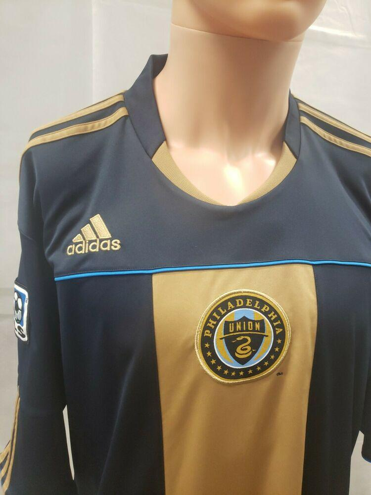 Philadelphia Union Adidas MLS Soccer Jersey XXL 2XL Sewn 2010 Navy ...