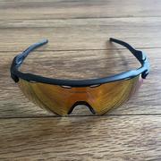 NEW Oakley Radar EV Path Sunglasses - Black Frame w/ Red Multilayer Lens