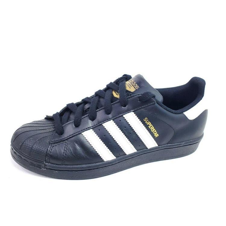 Adidas Superstar Foundation Big Kids Shoes Size 5.5 Youth Black B23642 Womens 7