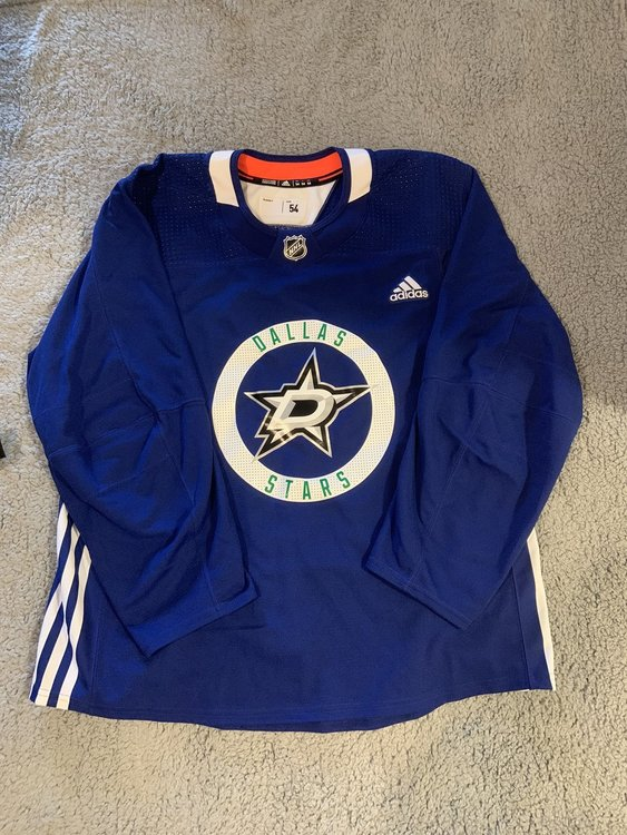 Adidas NHL Dallas Stars Team Issued Pro Practice Jersey Blue Men's Size 54