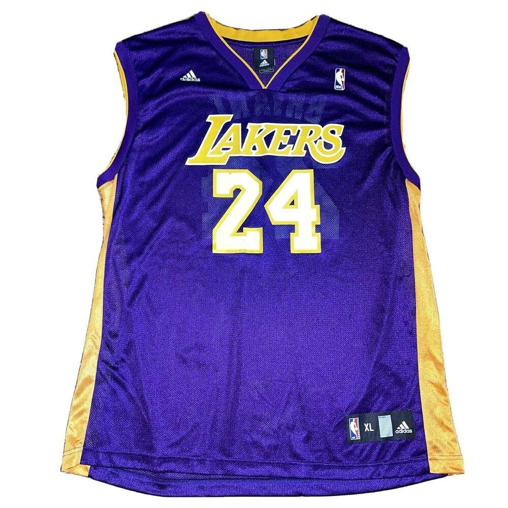 Kobe Bryant #24 Adidas Los Angeles Lakers LA Basketball Jersey ...