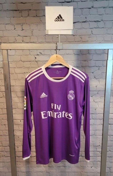 Purple Real Madrid Medium Long Sleeves Adidas Jersey