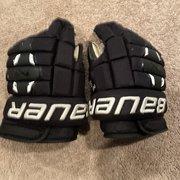 """Black Senior Bauer 14"""" Nexus 2N Gloves"""