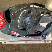 """Rawlings Navy/Red Infield 11.25"""" Heart of the Hide Baseball Glove"""