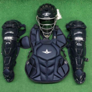 All Star System 7 Axis Youth 10-12 Catchers Gear Set - Solid Navy Blue