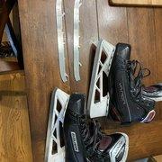 Used Bauer Regular Width  Size 6 Vapor X700 Hockey Goalie Skates + Extra Step Steel Runners